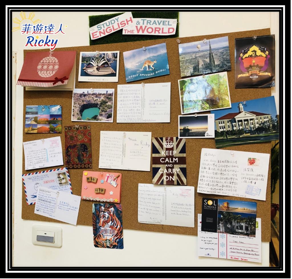 遊學學生手寫卡片、明信片
