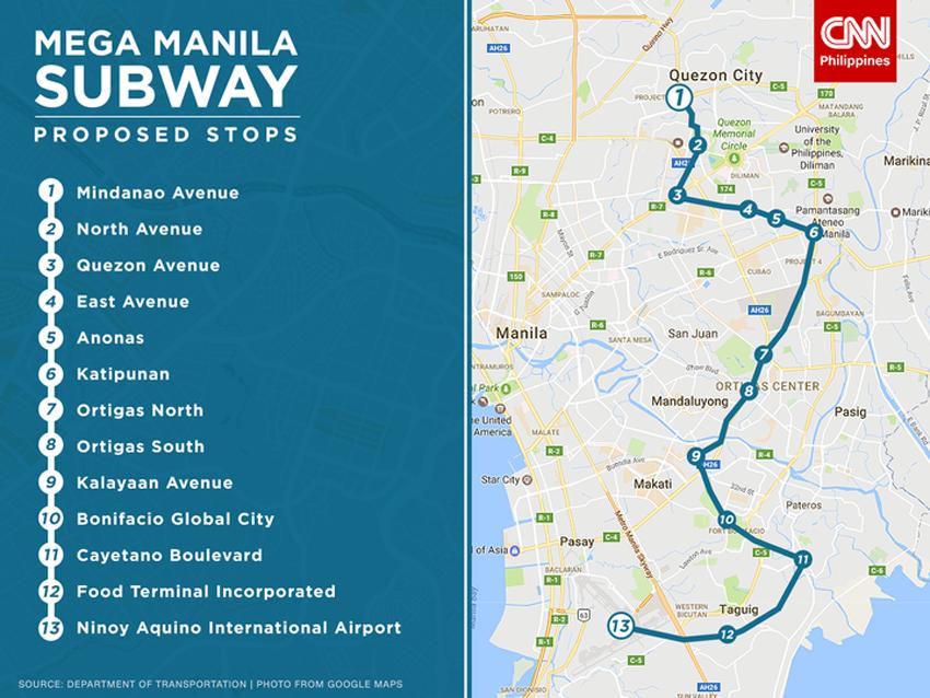 菲律賓房地產-規劃興建中的Manila地鐵